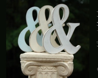 "6"" Ampersand  prop, Painted, Custom, Wooden Alphabet Letters, DIY, Engagement, Wedding Decor, Photography Props, Wedding"