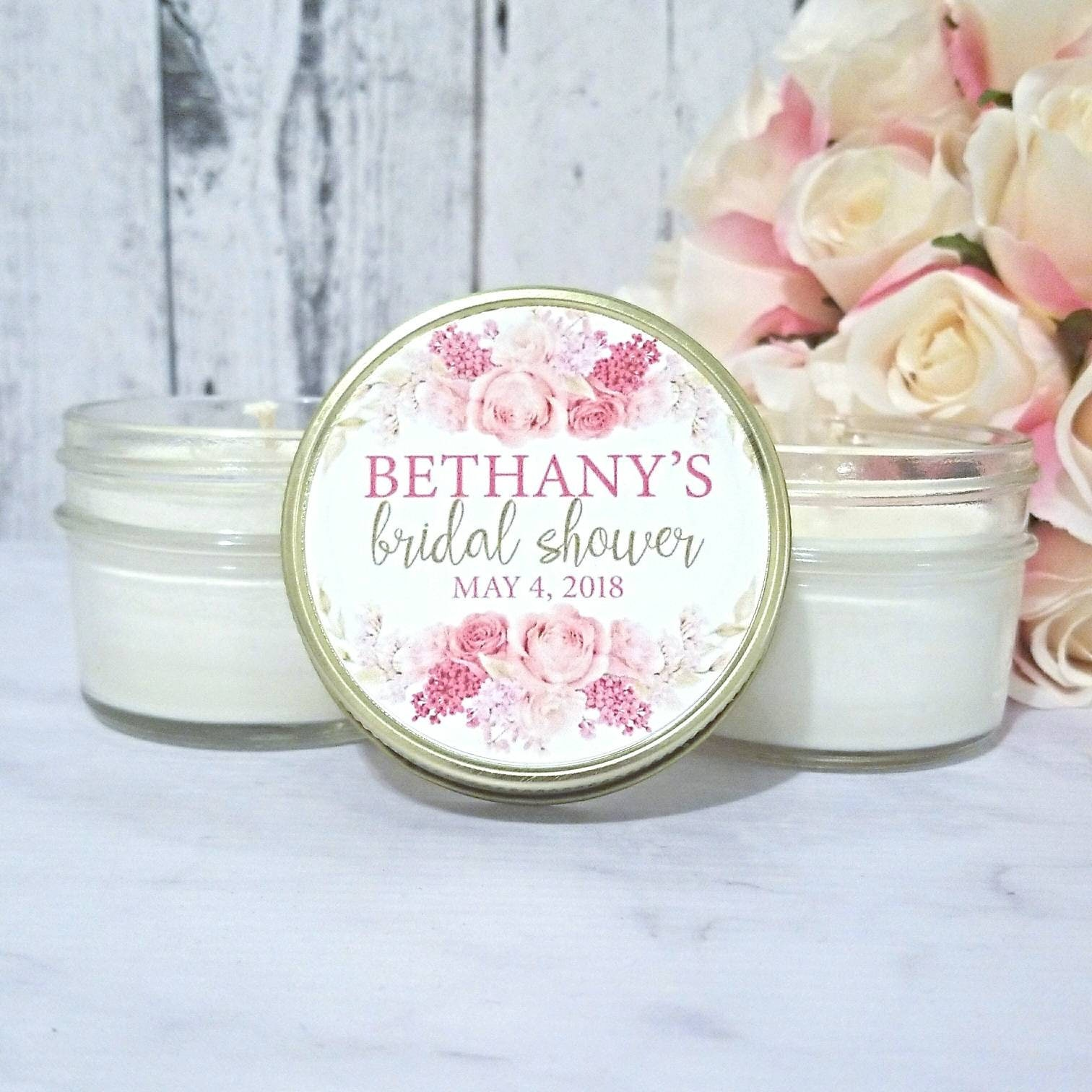 Blush Bridal Shower Candle Favors - PINK Bridal Shower - Wedding ...