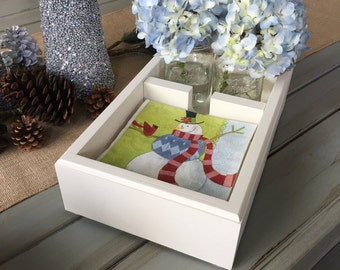 Napkin holder with room for flowers