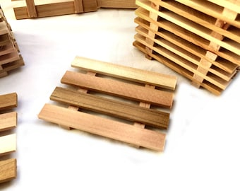 2, 4, 6, 8 or 12 aromatic Western red cedar soap dishes - handcrafted in Portland, Oregon USA  - Wonderfully Aromatic Cedar