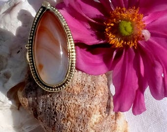 Agate carnelian - Angel nail ring