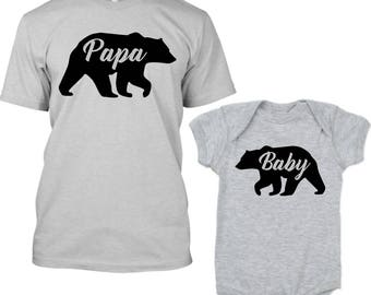 Papa Bear Baby Bear Shirts, Daddy Bear Shirt, Daddy and Son Outfits, Matching Father Son Shirts, Dad Baby Shower Gift, Fathers Day Gift Baby