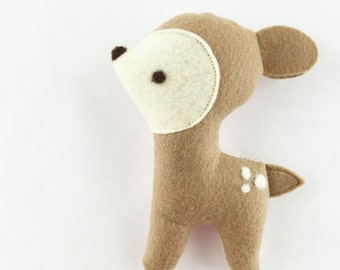 Baby Rattle Pals, Fawn, handmade fabric softie toy