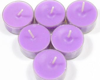 Freesia Handmade Premium Quality Highly Scented 6 Tea Light Candles