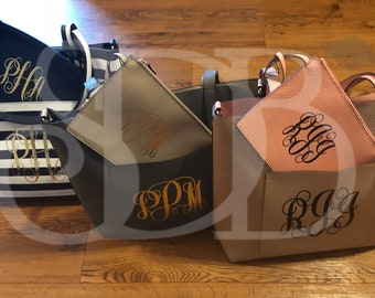Monogrammed Reversible Tote Bag