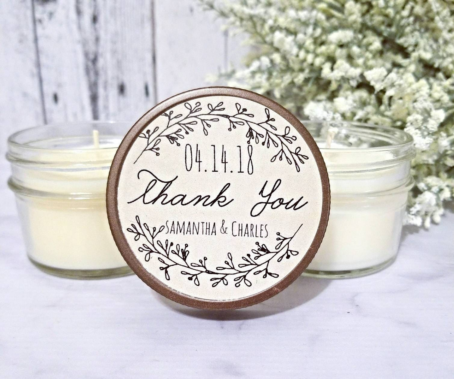 12 Rustic Wedding Favors - Wedding Rustic - Wedding Candle Favors ...