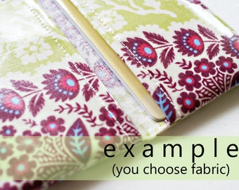 Two pocket card holder | card case in choice of any laminated cotton fabric