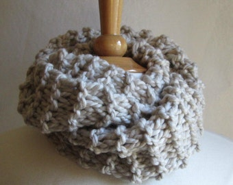 Cozy and Plush Coffee with Cream Cowl Scarf Neck Warmer