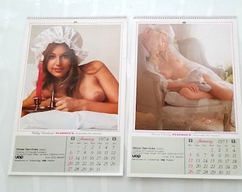 1974, 1975 playboy calendar for universal oil products company great condition