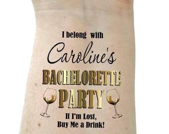 Bachelorette tattoo Bachelorette party tattoo temporary tattoos gold tattoos