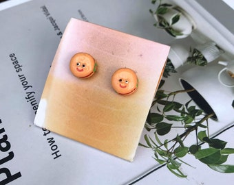 Googly Eyed Burger Stud Earring