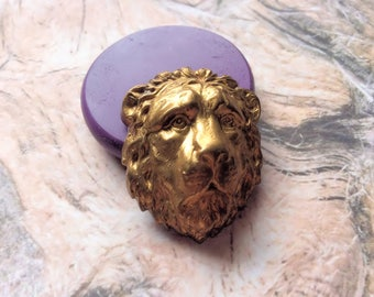 Lions Head- flexible silicone push mold/clay, resin, sweets, pmc,Fondant, wax and more