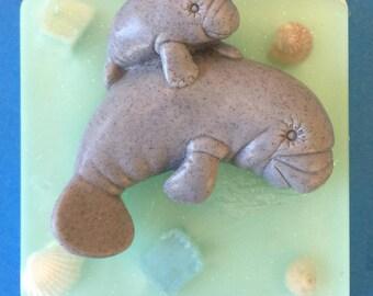 Manatee Mommy & Baby All Natural Handmade Soap