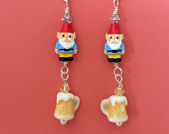 Sky Blue Gnome Kolsch Earrings