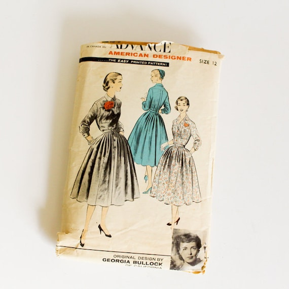 SIZE 12 7925 WOMEN\'S Advance Sewing Pattern 1950s Vintage