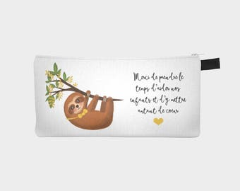 "Pencil case / makeup case ""Mr. sloth"""