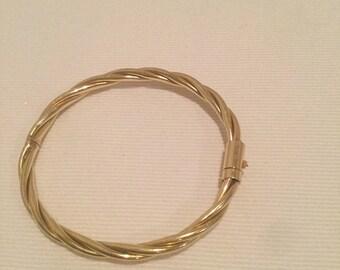 Gold jewelry, 14 karat gold bracelet, bracelet, vintage jewelry, vintage gold jewelry,