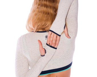 Yoga Crop Top, Yoga T Shirt, Yoga Top, Long Sleeved Crop Top, Yoga Top Women, Long Sleeve, Yoga shirt women