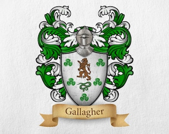 Gallagher Family Crest - Print