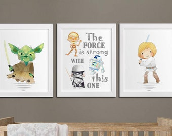 star wars quote the force is strong with this one modern kids