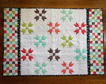 Checkerboard and Stars baby quilt