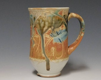 Handmade wheel thrown ceramic mug #1142