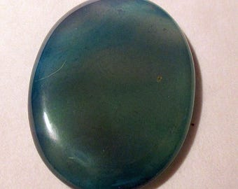 Agate - blue tinted - undrilled - ref5387