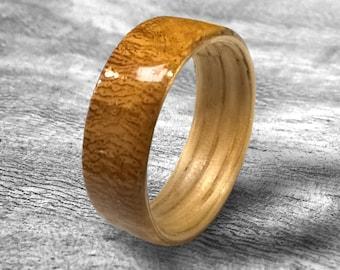 Newly Wood, Unique wedding ring, Bentwood ring, reclaimed wood, wood wedding band