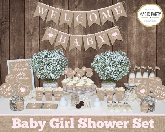Rustic Baby Shower Decorations Girl Baby Shower Decorations