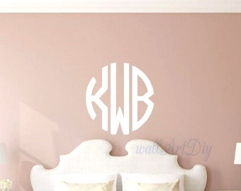 Monogram Wall Decals Etsy - Coral monogram wall decal