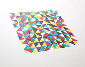Limited Edition Triangle Screen Print