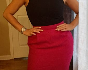 1960's Hot Pink Pencil Skirt
