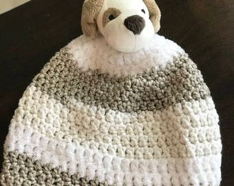 Hand made Hat Puppy Dog Child Size Beanie Gift Ready To Ship