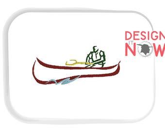 Canoe Machine Embroidery Design