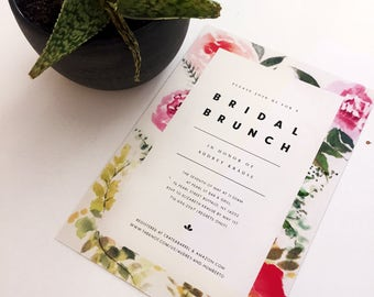 Watercolor Floral Bridal Shower