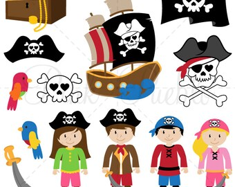 Pirate SVGs, Pirate Cutting Templates - Commercial and Personal Use