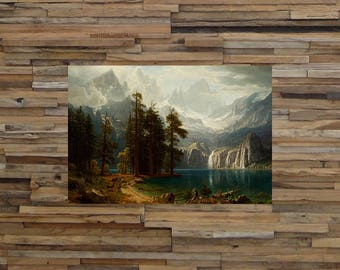 Bierstadt Sierra Nevada 1876, Classic Painting Art Reproduction, Classic Art, Vintage Art, Giclee Art Print, fine Art Reproduction