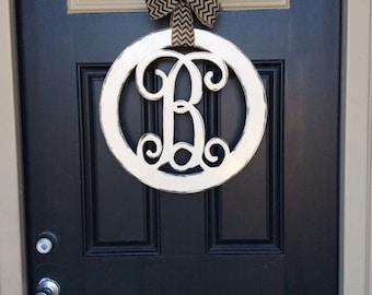 More colors. Circle Monogram Door Hanger ... & Monogram door hanger | Etsy