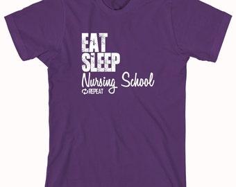 Eat Sleep Nursing School Repeat Shirt, nursing degree, nurse program, student - ID: 850