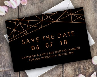 Save The Date Invitations Cards / Printable Wedding Invite / ModernVintage / Personalised Minimal / Marriage / PDF Digital / Save the Dates