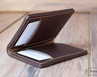 Minimalist Leather Wallet, Bifold Wallet, Everyday Simple Wallet, Personalized Bifold Wallet, Monogrammed Wallet, Custom Wallet