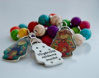 First Communion Favor.   Rosary Decade.   Recuerdos Primera Comunión. Denario Virgencita Plis. Denario Virgencita Plis Cross