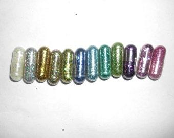 Glitter Pills, Glitter Pill, Sparkle Pill, 10 Pills, Unique Gift, Unusual Gift, Funny Gift, Gag Gift, birthday Gift, White elephant Gift