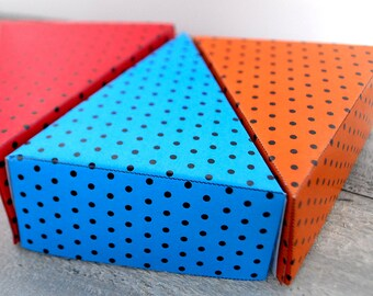 Polka Dot mini printable CAKE boxes party favors DIY cute SET of 8 colors