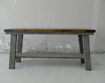 """American Hand Crafted Rustic Dining Table - """"Norfolk"""" Wood Rustic Table"""