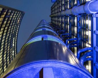 Lloyds Building London Fine Art Print, twilight architecture