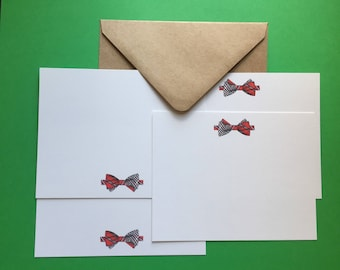 Little Bow Tie Note Cards 8 per package