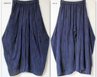 Designer Cotton Flax Lagenlook Plus size Pants. Buy the Matching top Separately.