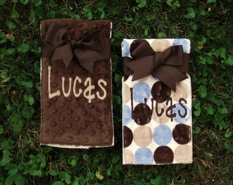 Burp Cloth - Design Your Own - Personalized - Set of 2 - Baby Girl - Baby Boy