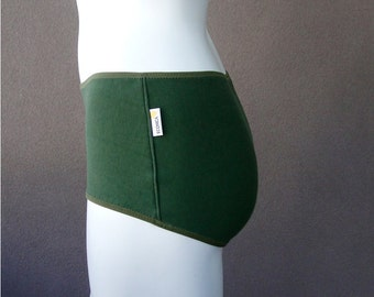 Organic cotton hipster - green knit jersey panties - pick your color and trim